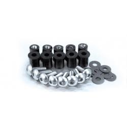 Kit vis + inserts + rondelles pour bulle BIHR Ø5mm noir