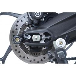 Pions de bras oscillant avec platine R&G RACING noir Triumph