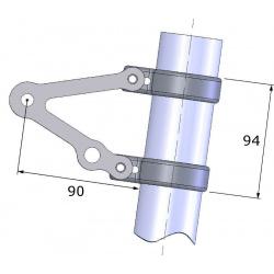 Support de phare LSL Clubman avec support clignotant pour fourche inversée inox universel Ø53/55mm