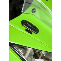 Caches orifice rétroviseur R&G RACING noir Kawasaki ZX10R