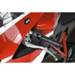 Caches orifice rétroviseur R&G RACING noir Ducati