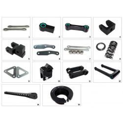 Kit de rabaissement de selle TECNIUM construction 6 Honda CBR600F/Fi/FS/RR