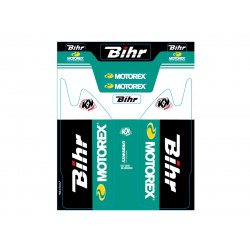 Kit de déco de fourche Bihr/Motorex KUTVEK KAWASAKI KXF 250