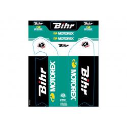 Kit de déco de fourche Bihr/Motorex KUTVEK KTM SX85
