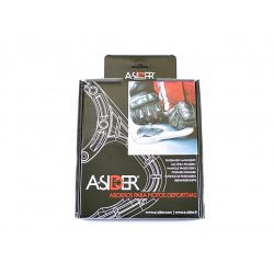 Poignée de réservoir A-SIDER 5 vis argent Kawasaki