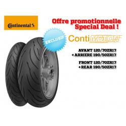 Train de pneus Sport-Touring CONTINENTAL ContiMotion (120/70 ZR 17 + 190/50 ZR 17)