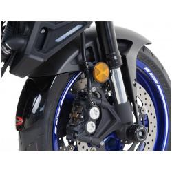 Extension de garde-boue avant R&G RACING noir Suzuki GSX1400