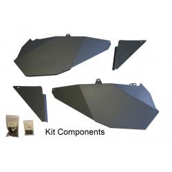 Panneau porte + kit de montage DRAGONFIRE noir Polaris