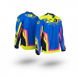 Maillot S3 Racing Team enfant rose/bleu taille YL