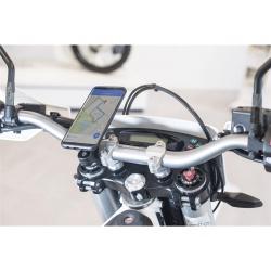 Pack complet SP-CONNECT Moto Bundle fixé sur guidon universel