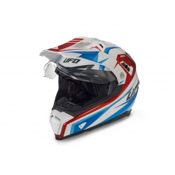 Casque UFO Aries blanc/rouge/bleu taille XS