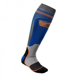 Chaussettes Alpinestars MX Plus-1 Bleu Orange Fluo