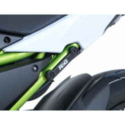 Cache orifice reposes-pieds R&G RACING noir Kawasaki Z650