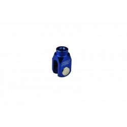 Chape de réglage de frein arrière SCAR alu bleu Yamaha