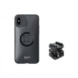 Pack complet SP-CONNECT Moto Bundle fixé sur rétroviseur iPhone X/XS/11Pro