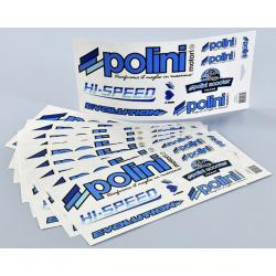 Autocollants POLINI Blue Line (10pcs)