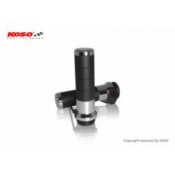 Poignées chauffantes KOSO Titan-X switch integré Harley Davidson cable