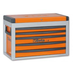 Coffre à cinq tiroirs BETA orange