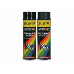 Peinture MOTIP Noir brillant - Spray 500 ml