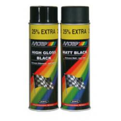 Peinture MOTIP Satin noir mat - Spray 500 ml