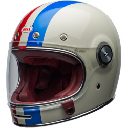 Casque BELL Bullitt DLX Command Gloss Vintage White/Red/Blue taille S